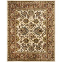 Safavieh Handmade Persian Legend Ivory/Rust Wool Area Rug (7'6 x 9'6)