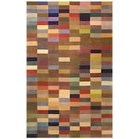 Safavieh Handmade Rodeo Drive Modern Abstract Multicolored Wool Rug - 5' x 8'