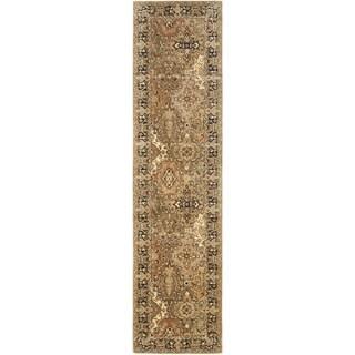 Safavieh Handmade Persian Legend Light Green/ Black Wool Rug (2'6 x 8')
