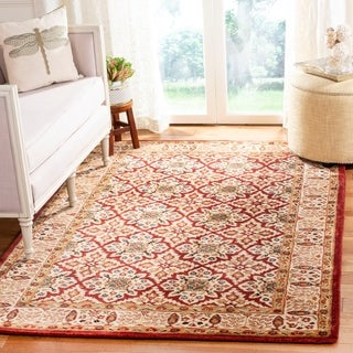 Safavieh Handmade Persian Legend Beige/ Red Wool Rug (9'6 x 13'6)