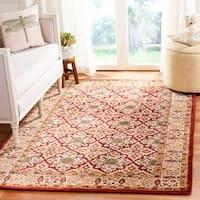 "Safavieh Handmade Persian Legend Beige/ Red Wool Rug - 9'6"" x 13'6"""