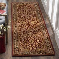 "Safavieh Handmade Persian Legend Rust/ Black Wool Rug - 2'6"" x 10'"