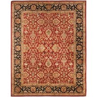 "Safavieh Handmade Persian Legend Rust/ Black Wool Rug - 9'6"" x 13'6"""