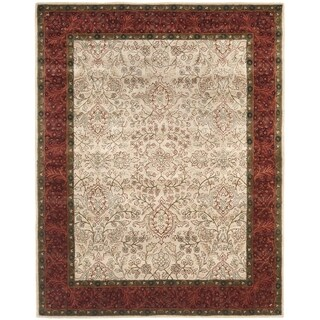 Safavieh Handmade Persian Legend Ivory/ Rust Wool Oriental Rug (6' x 9')