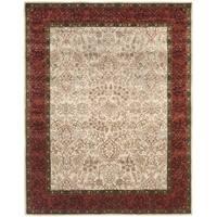 Safavieh Handmade Persian Legend Ivory/ Rust Wool Oriental Rug (6' x 9') - 6' x 9'