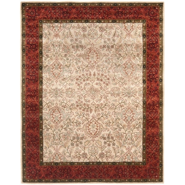 Shop Safavieh Handmade Persian Legend Ivory Rust Wool Area: Shop Transitional Safavieh Handmade Persian Legend Ivory