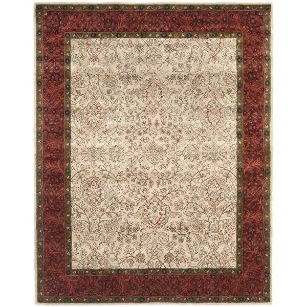 "Transitional Safavieh Handmade Persian Legend Ivory/Rust Wool Rug (8'3"" x 11')"