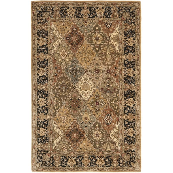 Safavieh Handmade Persian Legend Light Green/ Black Wool Rug (9'6 x 13'6) - 9'6 x 13'6