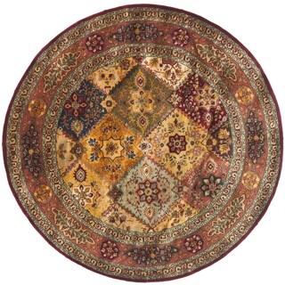 Safavieh Handmade Persian Legend Red/ Rust Wool Rug (8' Round)