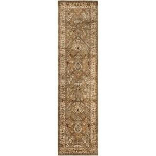 Safavieh Handmade Persian Legend Light Green/ Beige Wool Rug (2'6 x 8')