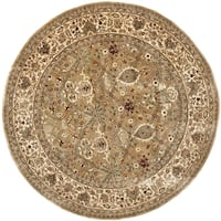Safavieh Handmade Persian Legend Light Green/ Beige Wool Rug - 6' Round
