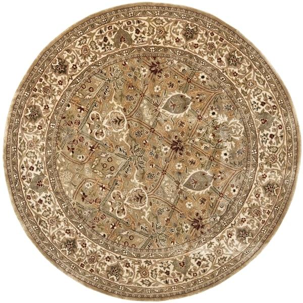 Round Wool Persian Rug: Shop Safavieh Handmade Persian Legend Light Green/ Beige