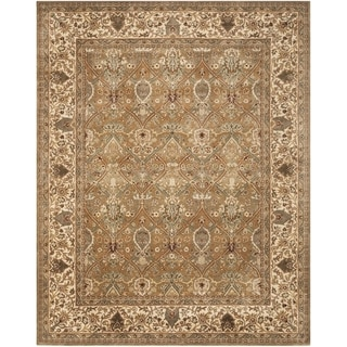 Safavieh Handmade Persian Legend Light Green/ Beige Wool Rug (8'3 x 11')
