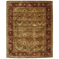 "Safavieh Handmade Persian Legend Light Green/ Rust Wool Rug - 9'6"" x 13'6"""