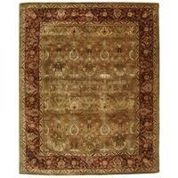 Safavieh Handmade Persian Legend Light Green/ Rust Wool Rug - 8'3 x 11'