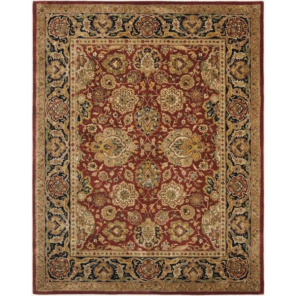 Shop Safavieh Handmade Persian Legend Ivory Rust Wool Area: Shop Safavieh Handmade Persian Legend Rust/Navy Wool Area