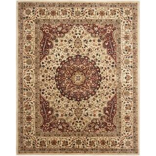 Safavieh Handmade Persian Legend Ivory/ Rust Wool Area Rug (6' x 9')