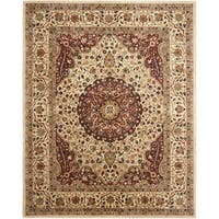 Safavieh Handmade Persian Legend Ivory/ Rust Wool Area Rug - 6' x 9'