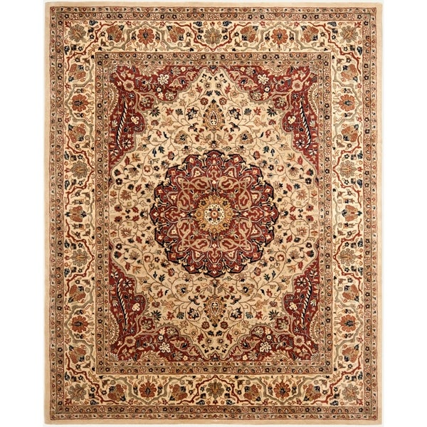 "Safavieh Handmade Persian Legend Ivory/ Rust Wool Rug - 7'6"" x 9'6"""