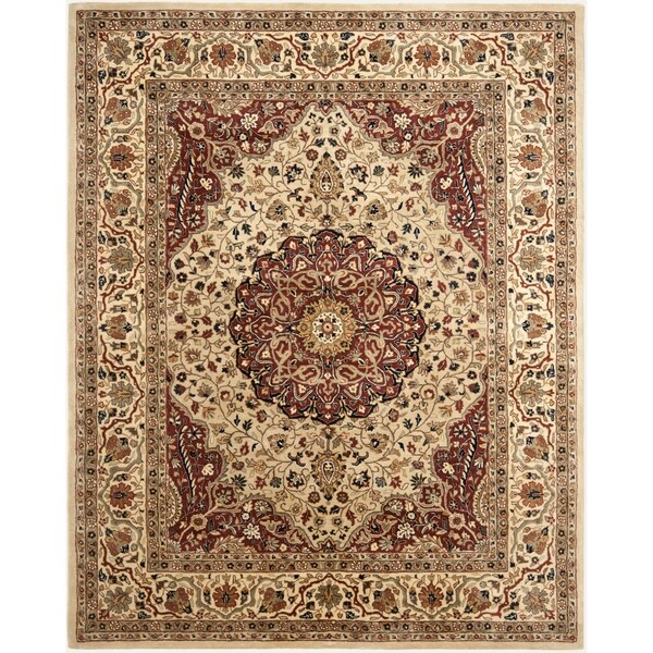 Safavieh Handmade Persian Legend Ivory/ Rust Wool Rug - 7'6 x 9'6