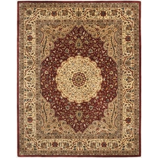 Safavieh Handmade Persian Legend Ivory/ Rust Wool Transitional Rug (6' x 9')