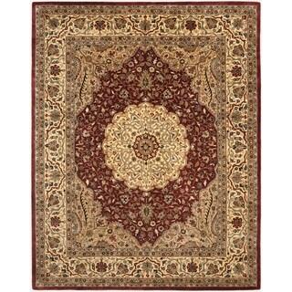 Safavieh Handmade Persian Legend Ivory/Rust Traditional Wool Rug (7'6 x 9'6)