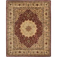 Safavieh Handmade Persian Legend Ivory/Rust Traditional Wool Rug - 7'6 x 9'6
