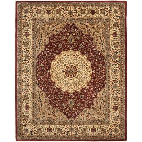 "Safavieh Handmade Cotton-Backed Persian Legend Ivory/Rust Wool Rug - 8'3"" x 11'"