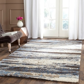 Safavieh Retro Modern Abstract Cream/ Blue Rug (4' x 6')
