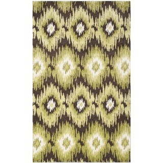 Safavieh Retro Bohemian Dark Brown/ Green Distressed Rug (4' x 6')