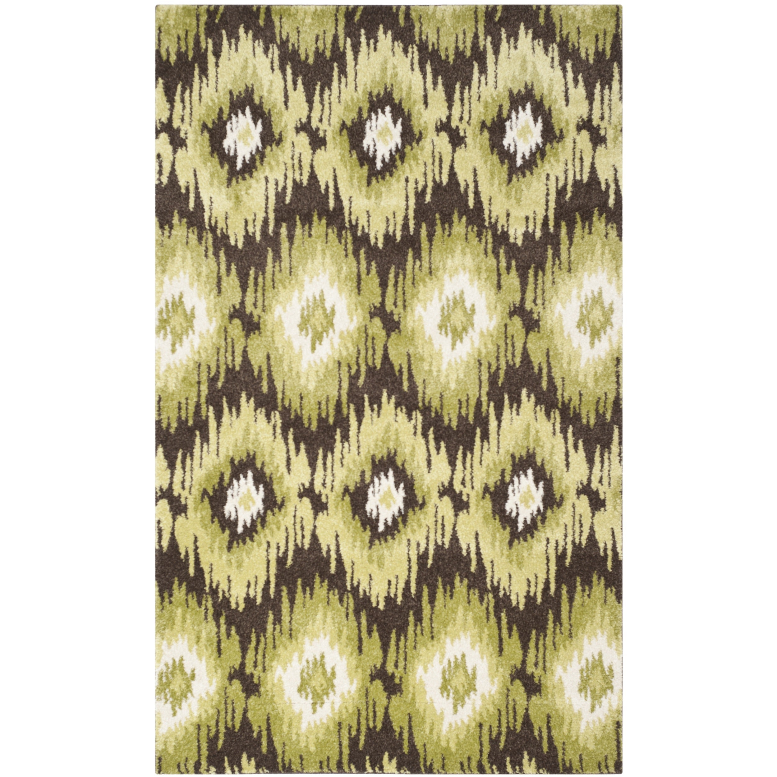 Safavieh Retro Bohemian Dark Brown/ Green Distressed Rug ...