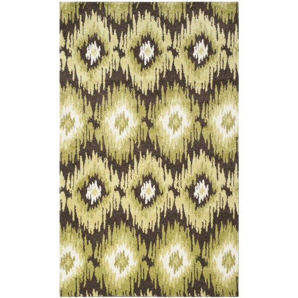 Safavieh Retro Bohemian Dark Brown/ Green Distressed Rug - 8' x 10'