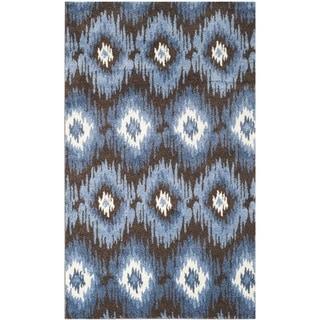 Safavieh Retro Bohemian Dark Brown/ Blue Distressed Rug (4' x 6')