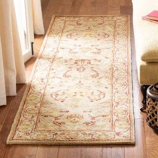 Safavieh Handmade Persian Legend Moss/ Beige Wool Rug (2'6 x 18')