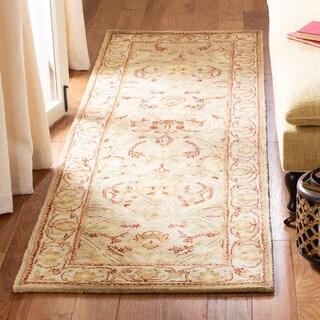 Safavieh Handmade Persian Legend Moss/ Beige Wool Rug (2'6 x 22')