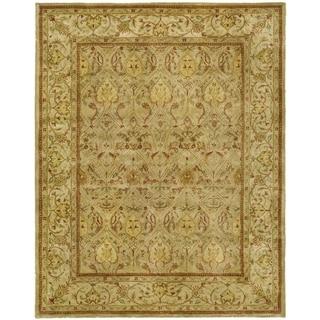 Safavieh Handmade Persian Legend Moss/ Beige Wool Rug (11' x 15')