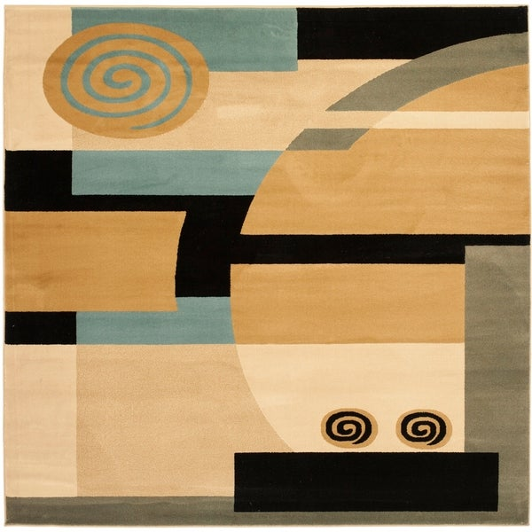 Safavieh Porcello Modern Abstract Brown/ Multi Rug - 5' x 5' square