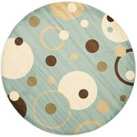 Safavieh Porcello Modern Cosmos Blue/ Multi Rug - 5' Round