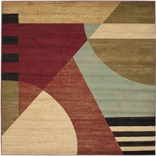 Safavieh Porcello Modern Abstract Multicolored Rug (5' Square)