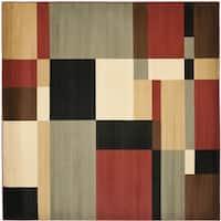Safavieh Porcello Modern Abstract Multicolored Rug - 5' Square