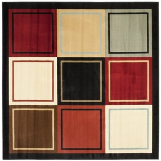 Safavieh Porcello Modern Abstract Multicolored Rug (5' Square)