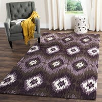 Safavieh Retro Bohemian Dark Brown/ Eggplant Distressed Rug - 8' x 10'