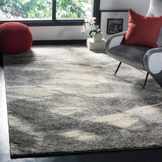 Safavieh Retro Mid-Century Modern Abstract Grey/ Ivory Rug (6' x 9')