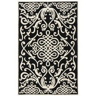 Safavieh Handmade Soho Black/ Ivory Wool Rug (8'3 x 11')