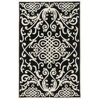 Safavieh Handmade Soho Black/ Ivory Wool Rug - 8'3 x 11'