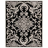 "Safavieh Handmade Soho Black/ Ivory Wool Rug - 8'-3"" x 11'"