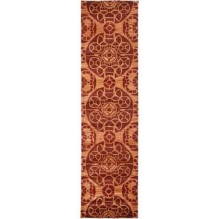Safavieh Handmade Wyndham Cinnamon Wool Rug (2'3 x 11')