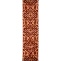 Safavieh Handmade Wyndham Cinnamon Wool Rug - 2'3 x 11'
