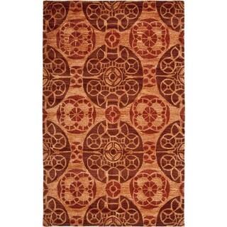 Safavieh Handmade Wyndham Cinnamon Wool Rug (8'9 x 12')