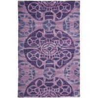 Safavieh Handmade Wyndham Purple Wool Rug - 3' x 5'